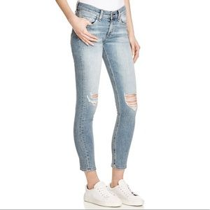 Rag & Bone Lightwash Ripped Capri Jeans